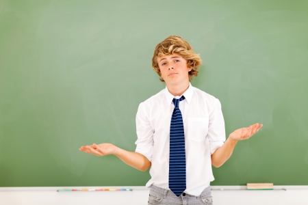 good looking young teen boy expressing his feelings Stock Photo - 18439887