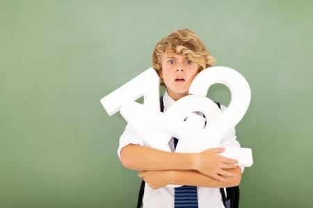 soumis: jeune �l�ve de l'�cole fort sentiment d�sesp�r� dans le th�me des math�matiques