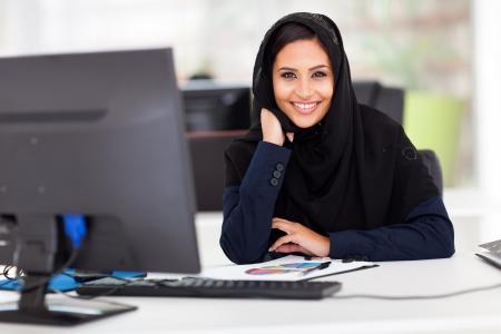 smart Muslim businesswoman in modern office Stock Photo - 18500728
