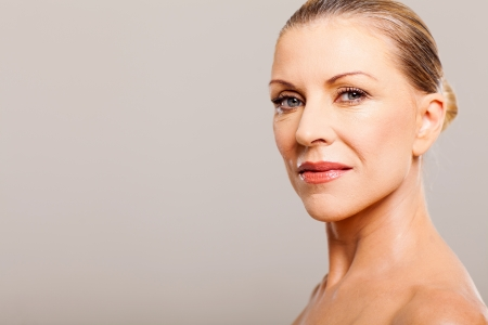 beautiful middle aged woman portrait close up