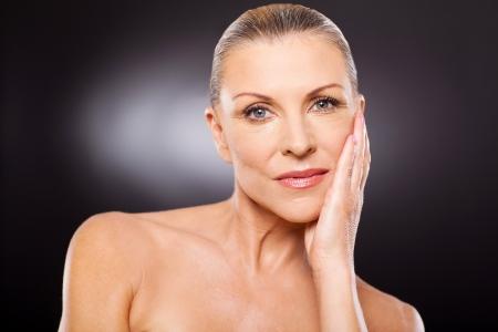 beauty shot: pretty senior woman beauty shot close up
