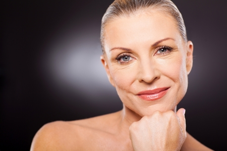 middle age woman: cute modern woman in her 50s Stock Photo