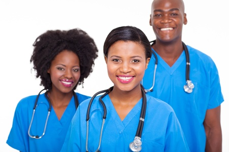 group of african medical doctors portrait photo