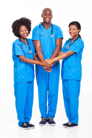group of african medical professionals team  photo