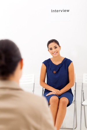 interviewing: beautiful asian woman doing job interview with female interviewer