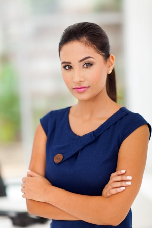 adult indian: smart business woman in office  Stock Photo