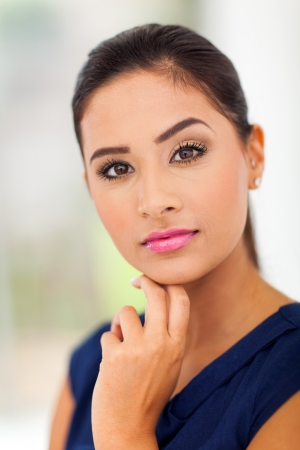 portrait of young indian lady close up Stock Photo - 18983611