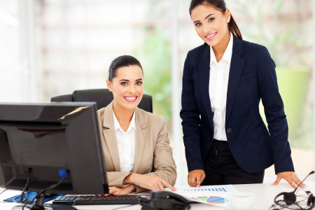 portrait of beautiful smiling business women in office Stock Photo - 18983531