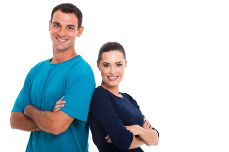 portrait of loving couple with arms crossed Stock Photo - 18991972