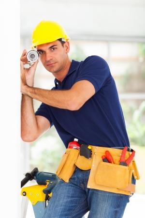 seguridad laboral: vigilancia de la seguridad del sistema de ajuste técnico cctv cámara
