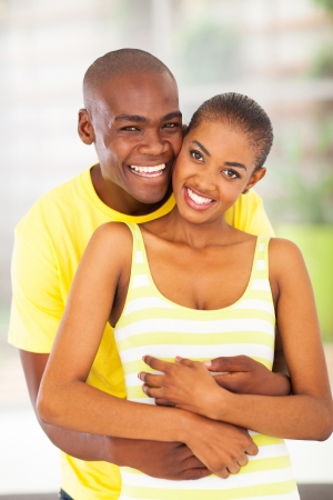portrait of cheerful african lovers photo