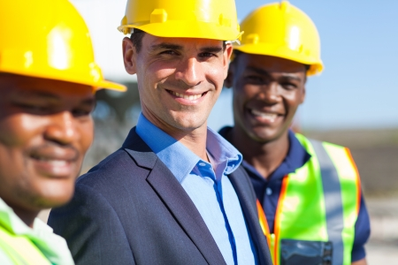portrait of cheerful construction engineers photo