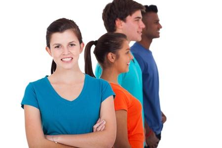 adult learners: diversos grupos de adolescentes aislados en blanco