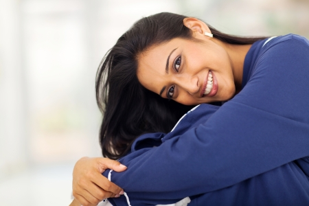 nightclothes: close up portrait of pretty indian woman wearing nightclothes  Stock Photo