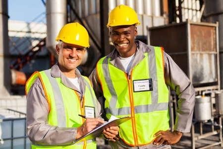 oil and chemical co-workers in refinery plant Stock Photo - 20669171