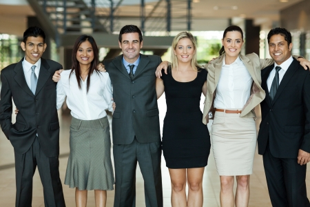 beautiful business people standing together photo