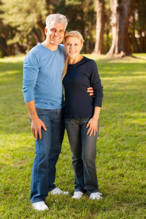 beautiful middle aged couple outdoors photo