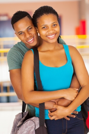happy african american university couple  photo