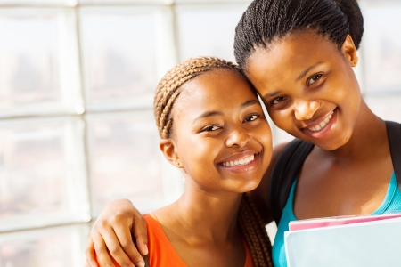 beautiful young african college girl friends photo
