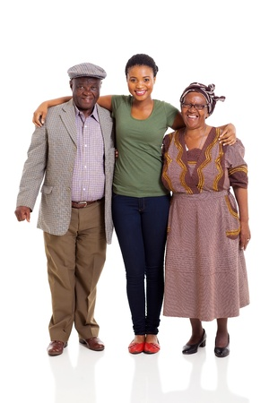happy african family full length portrait photo