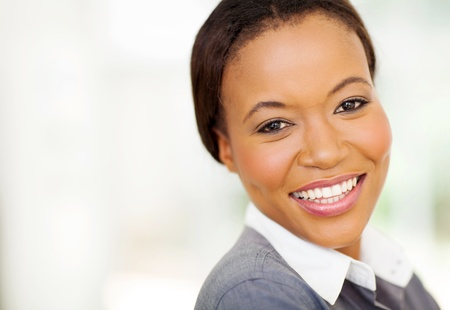 close up portrait of pretty african businesswoman photo