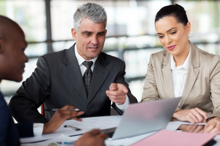 successful business team planning work on laptop Stock Photo - 23152742