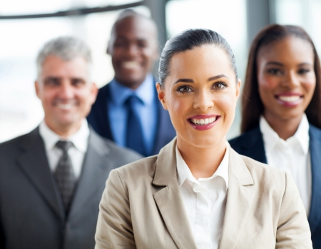 group people: portrait of confident group business people