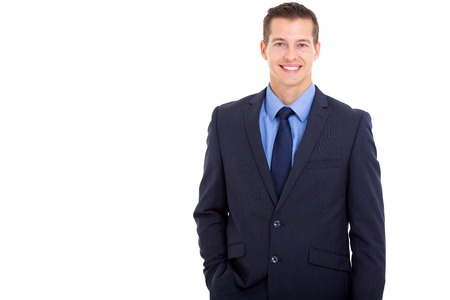 half dressed: portrait of handsome young business executive