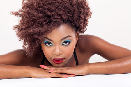 african american sexy: attractive young african beauty o