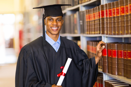 handsome african university law school graduate photo