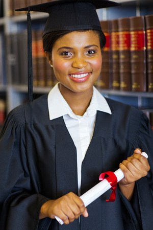 gorgeous female african american university law school graduate photo