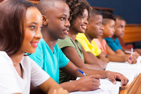 Group Of Young African American College Students In Lecture Room Stock Photo Picture And Royalty Free Image 26739237