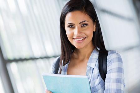 higher education: close up portrait of happy university student