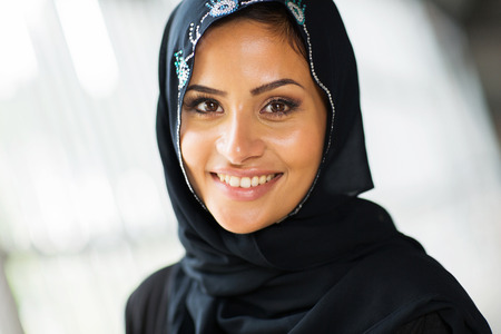middle eastern clothes: pretty middle eastern woman close up portrait