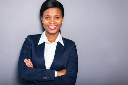 mujeres africanas: retrato de la empresaria profesional negro Foto de archivo