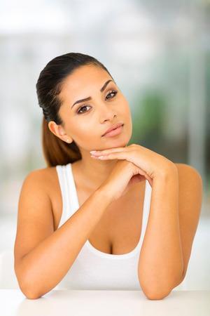 beauty shot: attractive young woman closeup beauty shot Stock Photo