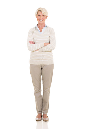 confident middle aged woman portrait with arms crossed photo