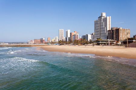 beautiful beachfront of Durban, South Africa Banco de Imagens