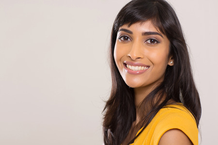beauty shot: indian woman beauty shot on plain background