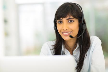 attractive indian call center representative photo