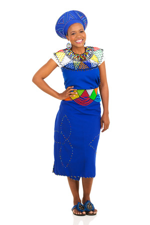 zulu: attractive south african girl wearing traditional clothes Stock Photo