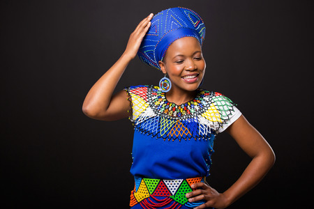 ethnic attire: african fashion woman wearing traditional clothes Stock Photo