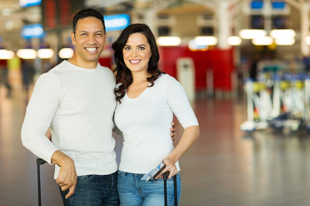 happy couple travel by air  photo