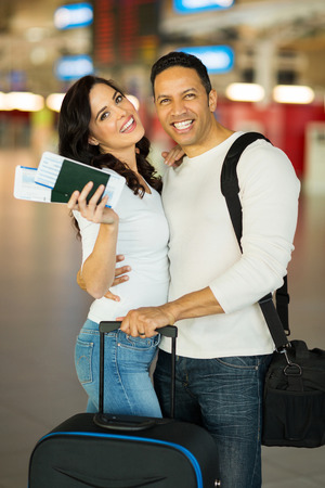 lovely mid age couple at airport photo