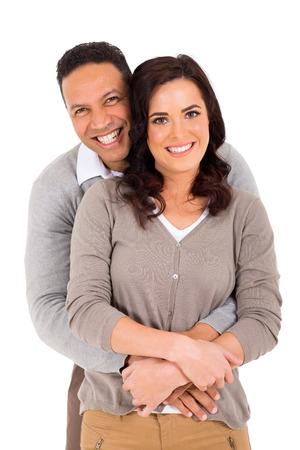 portrait of happy couple isolated on white background Stock Photo