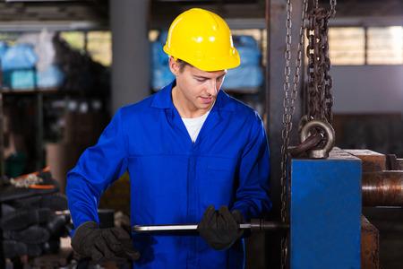 steel plant: skilled manual worker working in workshop Stock Photo