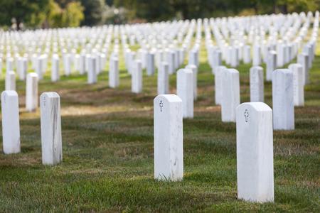memorial cross: arlington cementerio cementerio lápidas blancas