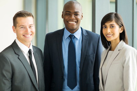 group of professional multicultural business executives in office photo