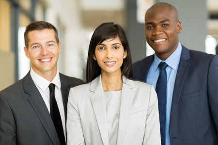 portrait of multicultural business executive in office Stock Photo