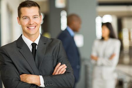 close up portrait of young caucasian businessman photo